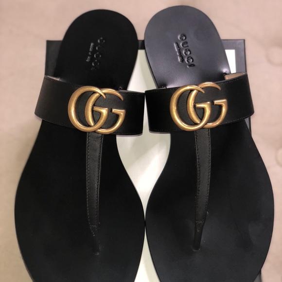 36426703f Gucci Marmont GG T-strap Sandal